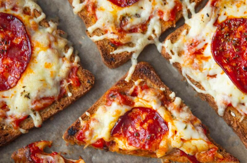 Bread Pizza - with Spicy Pepperoni and Cheddar Cheese