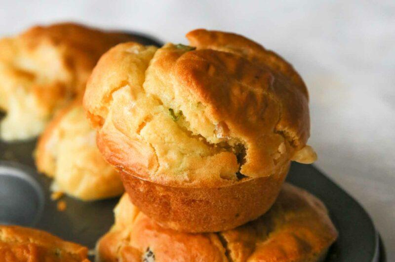Savory Breakfast Cheese Muffins