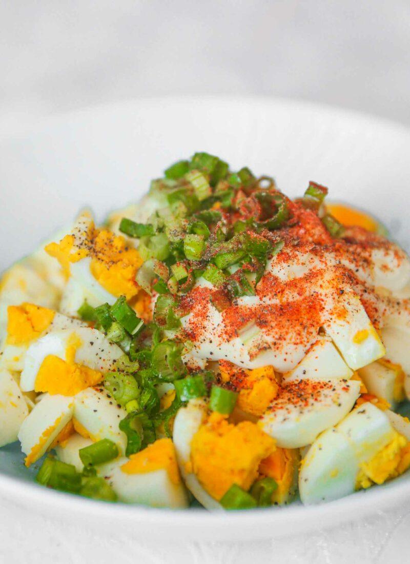 mediterranean egg salad with mayonnaise
