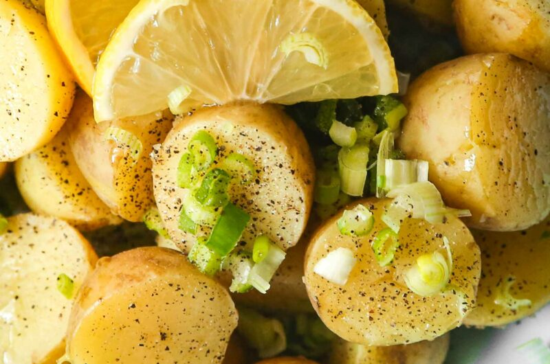 Healthy Lemon Potato Salad [no mayonnaise]