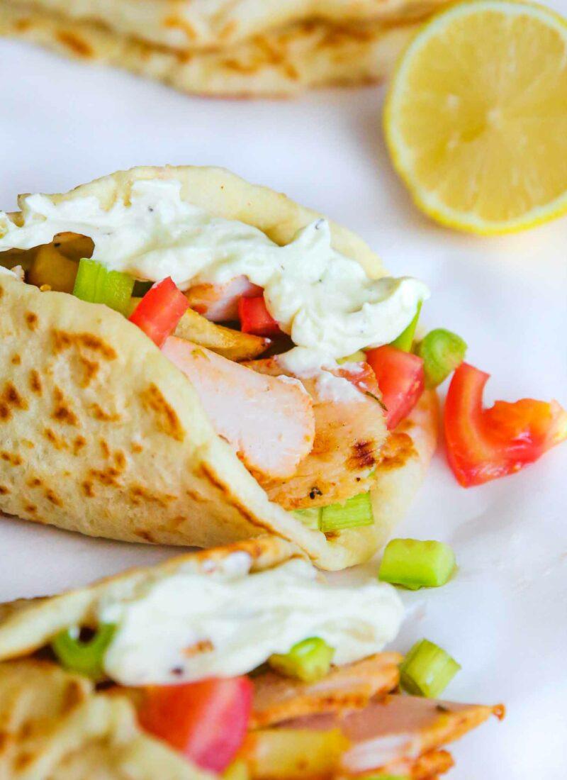 greek roasted chicken gyros