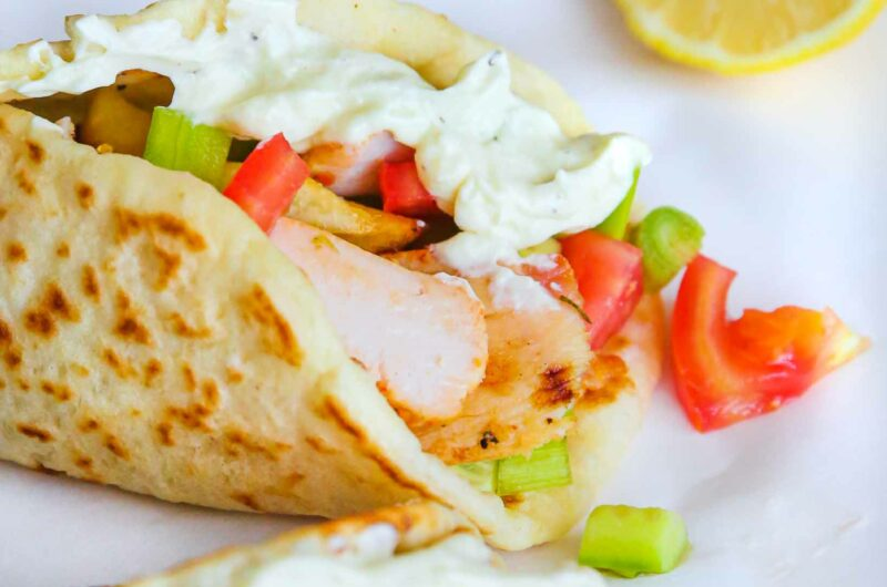 Roasted Greek Chicken Gyros