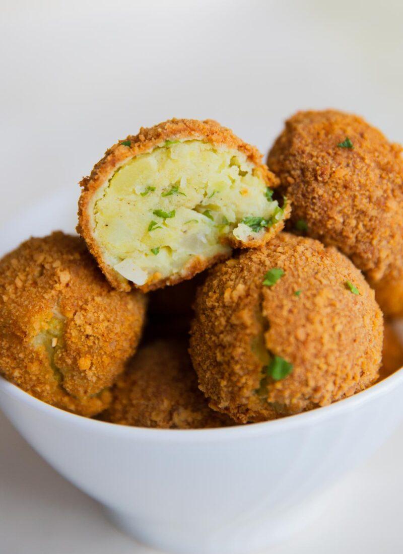 baked mashed potato balls