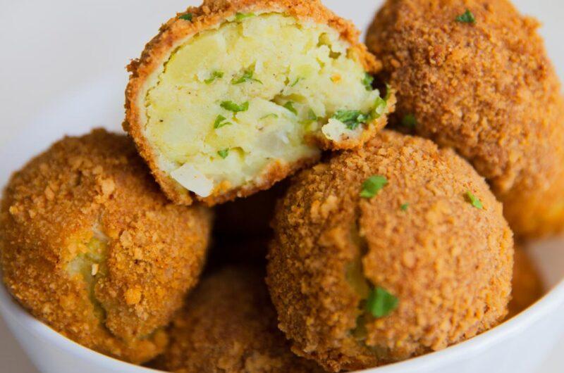 Baked Mashed Potato Balls - Crumbed & Oven Baked
