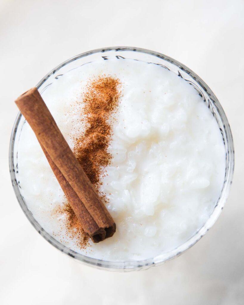 creamy cinnamon rice pudding