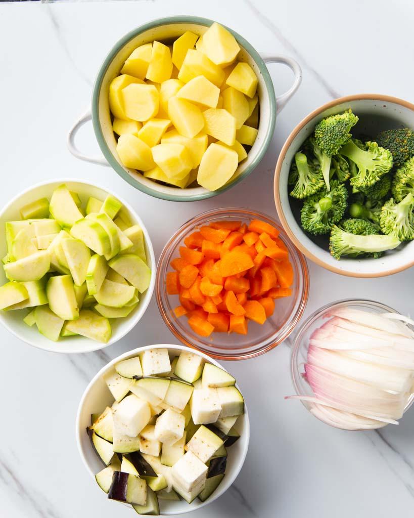 ingredients for mediterranean roasted vegetables