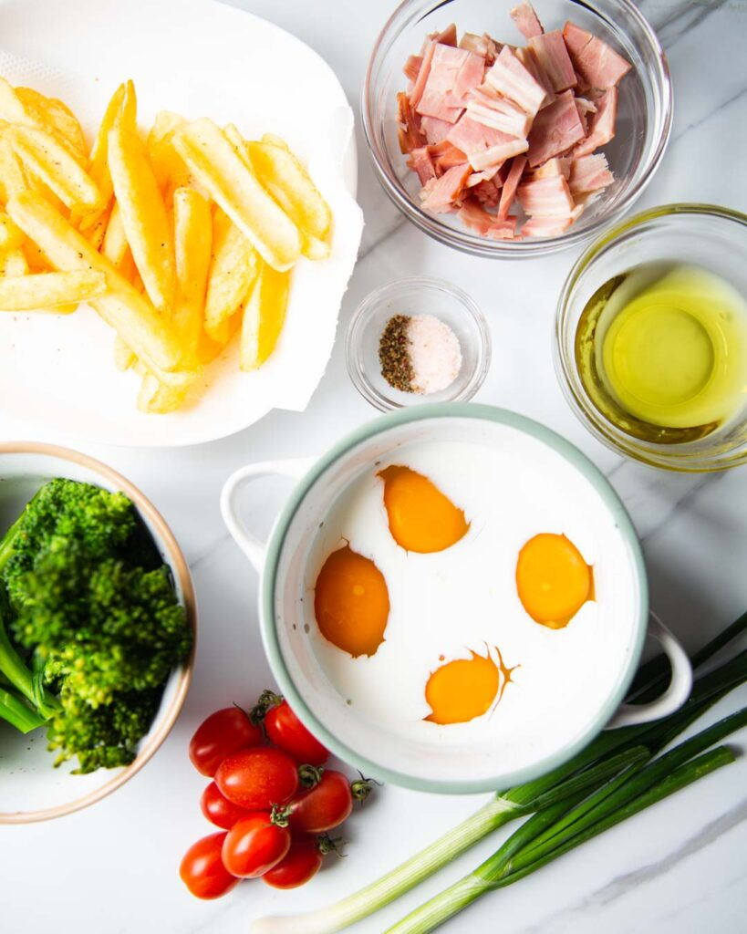 ingredients for potato frittata