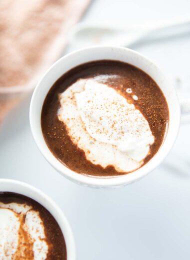 baileys hot chocolate in a mug