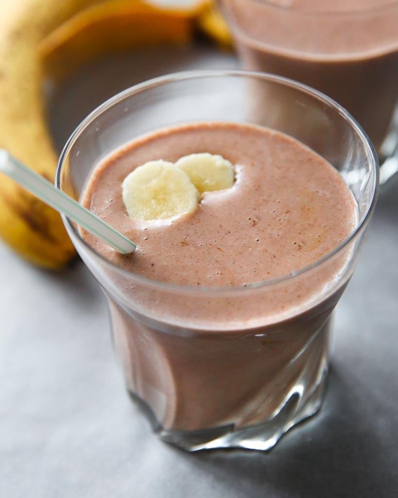 hazelnut banana protein shake