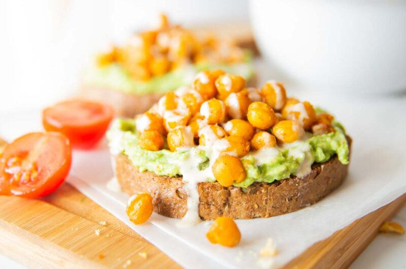 Roasted Chickpea Toast With Avocado