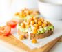 Roasted Chickpea Toast With Avocado